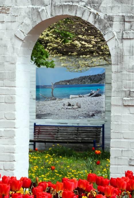 Tuinposter doorkijkjes