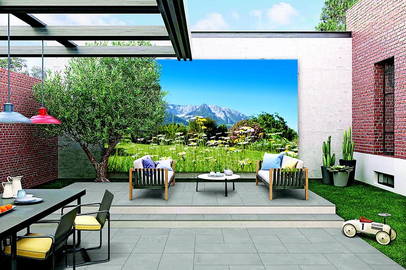 Tuinposter op 2cm frame 40x45 cm